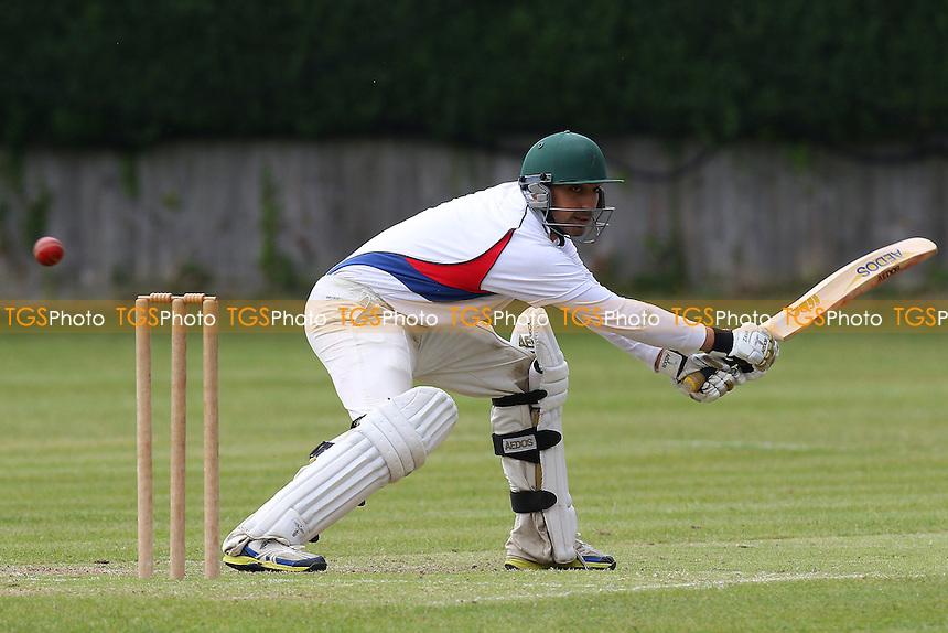 Little Waltham CC (fielding) vs Hornchurch Athletic CC - Mid-Essex Cricket League - 13/06/15 - MANDATORY CREDIT: Gavin Ellis/TGSPHOTO - Self billing applies where appropriate - contact@tgsphoto.co.uk - NO UNPAID USE