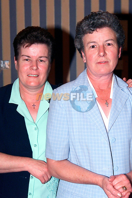 Theresa and Margaret Healy at the Greenanstown School Reunion in the Europa Hotel..Picture: Paul Mohan/Newsfile