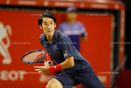 Yuichi Sugita (JPN), <br /> OCTOBER 5, 2017 - Tennis : <br /> Rakuten Japan Open Tennis Championships 2017 <br /> Singles 2nd round match <br /> at Ariake Coliseum, Tokyo, Japan. <br /> (Photo by Yohei Osada/AFLO)