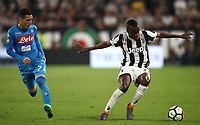 Calcio, Serie A: Juventus - Napoli, Torino, Allianz Stadium, 22 aprile, 2018.<br /> Juventus' Blaise Matuidi (r) in action with Napoli's José Maria Callejon (l) during the Italian Serie A football match between Juventus and Napoli at Torino's Allianz stadium, April 22, 2018.<br /> UPDATE IMAGES PRESS/Isabella Bonotto