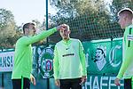 04.01.2018, Hotelanlage LA FINCA Golf, Rojales, ESP, TL Werder Bremen Rojales - Alicante Tag 03, im Bild<br /> <br /> Hatten ihren Spa&szlig;  nach dem Training - EINPACKEN mit dem Ball<br /> Jerome Gondorf (Werder Bremen #8)<br /> Aron J&oacute;hannsson / Johannsson (Werder Bremen #9)<br /> Max Kruse (Werder Bremen #10)<br /> <br /> <br /> <br /> Foto &copy; nordphoto / Kokenge