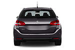 Straight rear view of a 2018 Peugeot 308 SW Allure 5 Door Wagon stock images