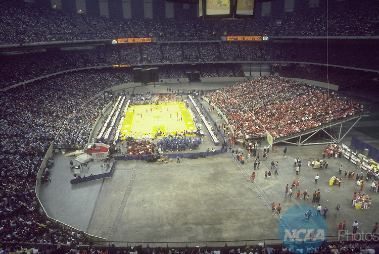 29 MAR 1982:  The site of the NCAA Men's National Basketball Final Four Championship games held in New Orleans, LA, at the Louisiana Superdome. Photo by Rich Clarkson/NCAA PhotosSI CD 1650-72
