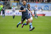 VOETBAL: HEERENVEEN: Abe Lenstra Stadion, SC Heerenveen - Feyenoord, 06-05-2012, Ron Vlaar (#4), Luciano Narsingh (#24), Eindstand 2-3, ©foto Martin de Jong