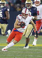 Annapolis, MD - November 11, 2017: Southern Methodist Mustangs quarterback Ben Hicks (8) scrambles during the game between SMU and Navy at  Navy-Marine Corps Memorial Stadium in Annapolis, MD.   (Photo by Elliott Brown/Media Images International)