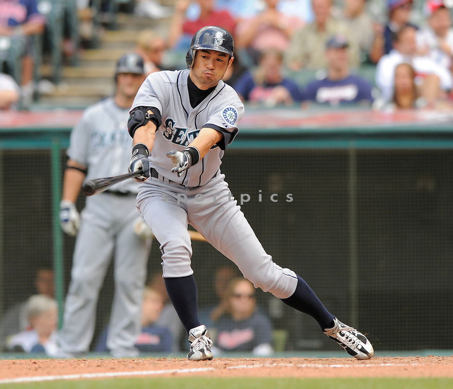 ICHIRO SUZUKI, of the Seattle Mariners, in action during the Mariners game against the Cleveland Indians on August 23, 2009 in Cleveland, OH. The Indians beat the Mariners 6-1...