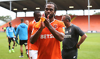 Blackpool's Nathan Delfouneso at the end of todays match<br /> <br /> Photographer Rachel Holborn/CameraSport<br /> <br /> The EFL Sky Bet League One - Blackpool v Bradford City - Saturday September 8th 2018 - Bloomfield Road - Blackpool<br /> <br /> World Copyright &copy; 2018 CameraSport. All rights reserved. 43 Linden Ave. Countesthorpe. Leicester. England. LE8 5PG - Tel: +44 (0) 116 277 4147 - admin@camerasport.com - www.camerasport.com