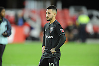 Washington, D.C. - November 1, 2018: The Columbus Crew SC defeated D.C. United 3-2 on penalty kicks after tying 2-2 in over time during their Major League Soccer (MLS) Knockout Round match at Audi Field.