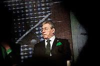 Bergamo 10-04-2012: Umberto Bossi partecipano alla «Serata dell'orgoglio leghista», dopo lo scandalo  dell'inchiesta sui fondi della Lega...Bergamo 10-04-2012: Umberto Bossi attend the Padania Pride political convention