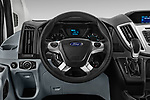 Car pictures of steering wheel view of a 2019 Ford Transit Wagon 350 XLT Wagon High Roof Pass Slide 148WB 5 Door Passenger Van