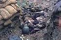Iraq 1983 <br /> In Haj Omran, bodies of Iraqi soldiers  <br /> Irak 1983 <br /> A Haj Omran, corps de soldats irakiens