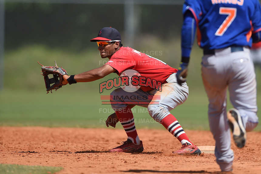 St. Louis Cardinals Oscar Mercado (11) during a minor league spring training game against the New York Mets on April 1, 2015 at the Roger Dean Complex in Jupiter, Florida.  (Mike Janes/Four Seam Images)