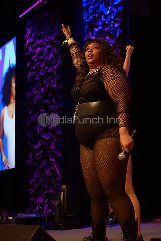 AUSTIN, TX - MARCH 17: Lizzo performs at the Radio Day Stage at the Austin Convention Center on March 17 in Austin, Texas during the 2017 South by Southwest music festival. Credit: Tony Nelson/MediaPunch
