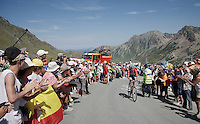 Bob Jungels (Lux/Trek Factory Racing) up the Col du Tourmalet (HC/2115m/17km/7.3%)<br /> <br /> st11: Pau - Cauterets (188km)<br /> 2015 Tour de France