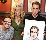 Jennifer Laura Thompson, Rachel Bay Jones and Ben Platt during the Ben Platt Sardi's Portrait unveiling at Sardi's on May 30, 2017 in New York City.