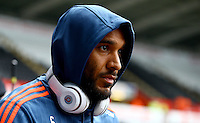 Ashley Williams of Swansea City arrives before the Barclays Premier League match between Swansea City and Liverpool played at the Liberty Stadium, Swansea on 1st May 2016