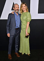 "LOS ANGELES, CA. October 17, 2018: Judy Greer & Toby Huss at the premiere for ""Halloween"" at the TCL Chinese Theatre.<br />