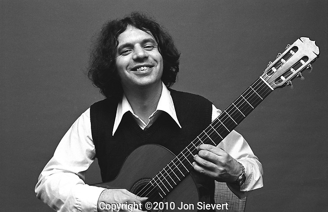 Ralph Towner, Oregon, April 22, 1975, 16-5-10. American multi-instrumentalist, composer, arranger and bandleader. He plays the twelve-string guitar, classical guitar, piano, synthesizer, percussion and trumpet. Joined Paul Winter's Consort than left to form Oregon,which over the course of the 1970s issued a number of highly influential records mixing folk music, Indian classical forms, and avant-garde jazz-influenced free improvisation.