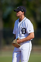 Detroit Tigers pitcher Austin Sodders (60) during a Minor League Spring Training intrasquad game on March 24, 2018 at the TigerTown Complex in Lakeland, Florida.  (Mike Janes/Four Seam Images)