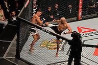 RIO DE JANEIRO, RJ, 01.08.2015 - UFC-RJ - O lutador Vitor Miranda vence Clint Hester no UFC 190: Rousey vs. Correia, na HSBC Arena, na zona oeste, neste sábado (01). (Foto: João Mattos / Brazil Photo Press)