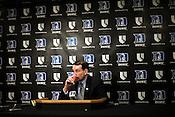 November 28, 2008. Durham, NC.. Duke vs. Duquesne at Cameron Indoor Stadium..Coach K press conference.