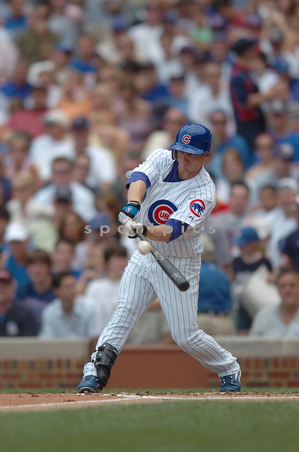 MIKE FONTENOT,  of the Chicago Cubs , in action during the Cubs game against the San Diego Padres on June 15, 2007 in Chicago, IL...Cubs win 4-1...Chris Bernacchi/ SportPics