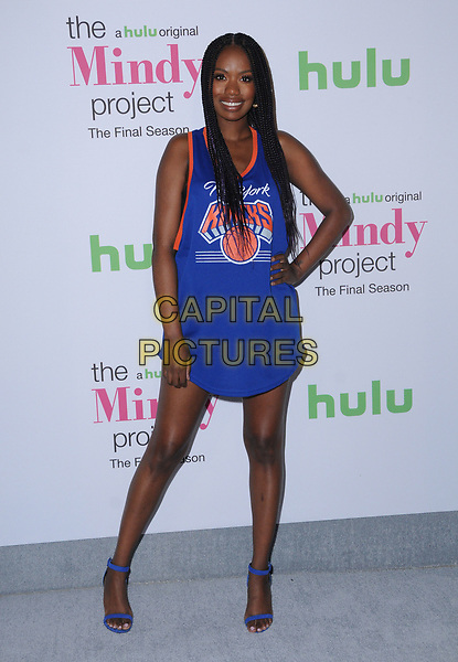 12 September  2017 - West Hollywood, California - Xosha Roquemore. &quot;The Mindy Project&quot; Final Season Premiere Party held at Microsoft Theatre L.A. Live in West Hollywood. <br /> CAP/ADM/BT<br /> &copy;BT/ADM/Capital Pictures