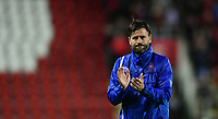 Lincoln City's assistant manager Nicky Cowley applauds the fans at the end of the game<br /> <br /> Photographer Chris Vaughan/CameraSport<br /> <br /> The Carabao Cup First Round - Rotherham United v Lincoln City - Tuesday 8th August 2017 - New York Stadium - Rotherham<br />  <br /> World Copyright &copy; 2017 CameraSport. All rights reserved. 43 Linden Ave. Countesthorpe. Leicester. England. LE8 5PG - Tel: +44 (0) 116 277 4147 - admin@camerasport.com - www.camerasport.com