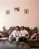 ERITREA, Asmara, a couple in their home in Asmara