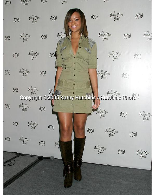 Rhianna .American Music Awards Nominiations 2005.Beverly Hills Hotel.Los Angeles, CA.September 20, 2005.©2005 Kathy Hutchins / Hutchins Photo....