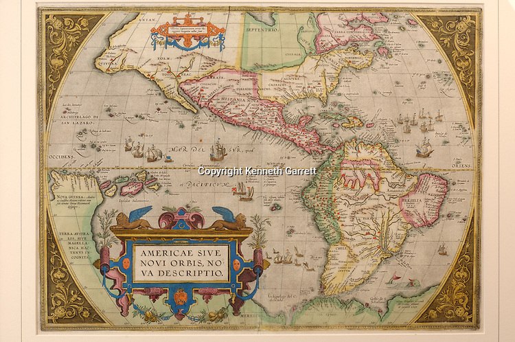 1584 map of the Americas, western world, Virginia; VA; Journey Through Hallowed Ground; Don Tharpe; Private Collection; Liberty Heritage Society; JTHG; Hallowed Ground; American History; .