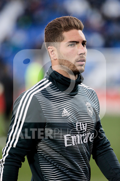 Real Madrid's Luca Zidane warms before La Liga match between CD Leganes and Real Madrid at Butarque Stadium in Leganes, Spain. April 15, 2019. (ALTERPHOTOS/A. Perez Meca)