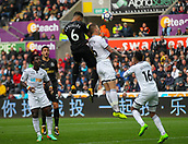 10th September 2017, Liberty Stadium, Swansea, Wales; EPL Premier League football, Swansea versus Newcastle United; Jamaal Lascelles (captain) of Newcastle United head in the first goal of the game in the 76th minute to make the score 1-0