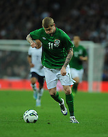 29.05.2013 London, England. James McClean, Republic of Ireland, in action during the International Friendly between England and Republic of Ireland from Wembley Stadium.