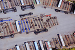 Aerial view of container car carriers