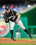22 April 2010: Colorado Rockies' relief pitcher Franklin Morales closes out the game against the Washington Nationals at Nationals Park in Washington, DC. The Rockies shut out the Nationals 2-0 gaining a 2-2 series split. Mandatory Credit: Ed Wolfstein Photo