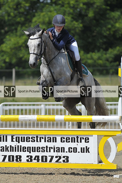 Class 2. Pony Discovery second round. British showjumping juniors. Brook Farm training centre. Essex. 18/06/2017. MANDATORY Credit Garry Bowden/Sportinpictures - NO UNAUTHORISED USE - 07837 394578