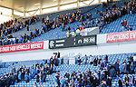 Rangers fans trudge out of the stadium after the team snatched a draw against Falkirk