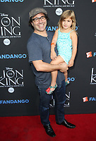 "05 August 2017 - Los Angeles, California - Brad Kane, Daughter. ""The Lion King"" Sing-Along Screening. Photo Credit: F. Sadou/AdMedia"
