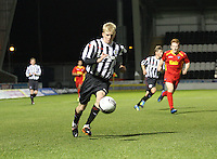 Jack Smith in the St Mirren v Dunfermline Athletic Clydesdale Bank Scottish Premier League U20 match played at St Mirren Park, Paisley on 2.10.12.