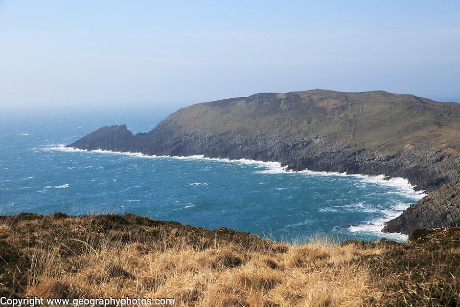 Atlantic waves rocky headland, South Harbour, Cape Clear Island, County Cork, Ireland, Irish Republic