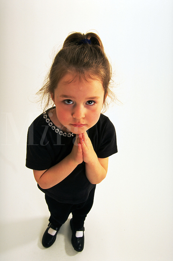 Portrait of a young girl in a sweet pose.