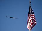 Oct. 8, 2011; A U.S. Air Force B-2 bomber flies over Notre Dame Stadium before the game...Photo by Matt Cashore