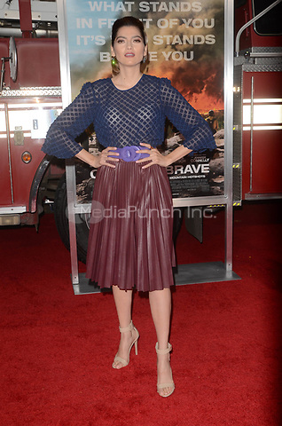 WESTWARD, CA - OCTOBER 8: Blanca Blanco at the Only The Brave World Premiere at the Village Theater in Westwood, California on October 8, 2017. Credit: David Edwards/MediaPunch
