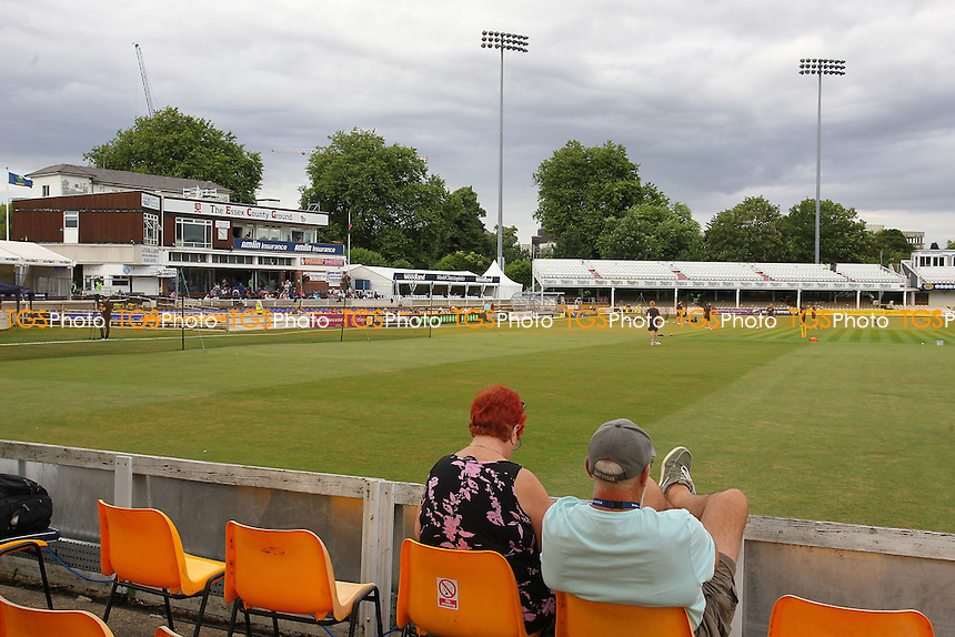 General view as spectators look on ahead of Essex Eagles vs Glamorgan, NatWest T20 Blast Cricket at the Essex County Ground on 29th July 2016