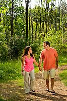 Lifestyle photography of Berewick, a 1,000-acre neighborhood development in Charlotte, NC (Steel Creek Area). Berewick was developed by Pappas Properties. Photo shows the walking / biking trail area.