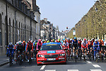 The start of the 117th edition of Paris-Roubaix 2019, running 257km from Compiegne to Roubaix, Compiegne, France. 14th April 2019<br /> Picture: ASO/Pauline Ballet | Cyclefile<br /> All photos usage must carry mandatory copyright credit (&copy; Cyclefile | ASO/Pauline Ballet)
