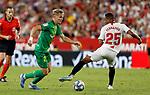 "Real Sociedad's Martin Odegaard and Sevilla FC's ""Fernando"" Francisco Reges during La Liga match. Sep 29, 2019. (ALTERPHOTOS/Manu R.B.)"