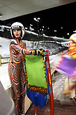 USA, Utah, Park City, portrait of young girls with their luge sleds, Utah Olympic Park