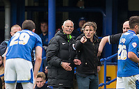 Wycombe Wanderers Manager Gareth Ainsworth is unimpressed as a Portsmouth player takes a dive during the Sky Bet League 2 match between Portsmouth and Wycombe Wanderers at Fratton Park, Portsmouth, England on 23 April 2016. Photo by Andy Rowland.